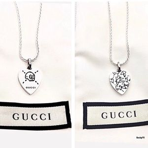 """New Gucci Ghost Heart Charm + Free 22"""" Chain"""
